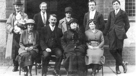 It�s the late 1920s at Southwold Electric Picture Palace. Back row: Freddie Neal (played the organ i