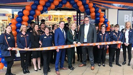 The opening of the B & M store at Newmarket Picture: B&M