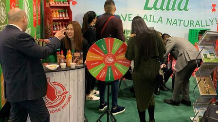 Surya Foods at the IFE international food and drink event at Excell London Picture: SURYA FOODS
