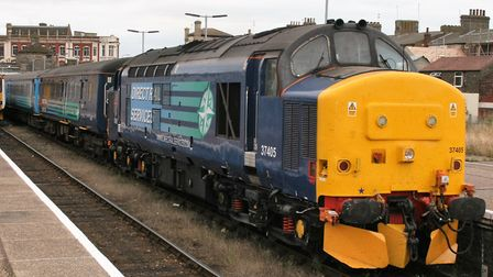 The Class 37 locomotives have been operating trains between Lowestoft and Norwich over recent years