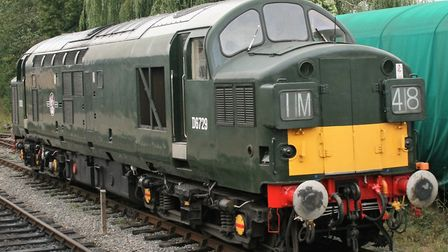 Some Class 37s have been preserved by enthusiasts. This one is in early green and yellow livery on t