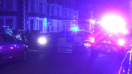 Police have closed a section of Sea Road in Felixstowe following this evening's collision. Pictures: