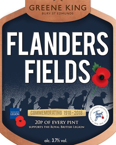 Sales of Flanders Fields has raised nearly �33,000 for the Royal British Legion Picture: GREENE KING