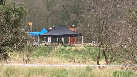 Sniffer dogs have also been spotted in the area surrounding the river, in Rowhedge near Colchester P