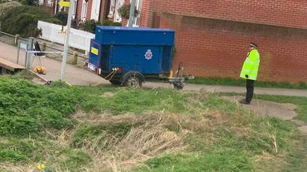 Essex Police are investigating after a human jawbone was found near a river in Rowhedge, near Colche
