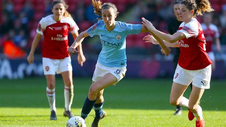 Manchester City's Jill Scott in action during the FA Women's League Cup final at Bramall Lane, Sheff