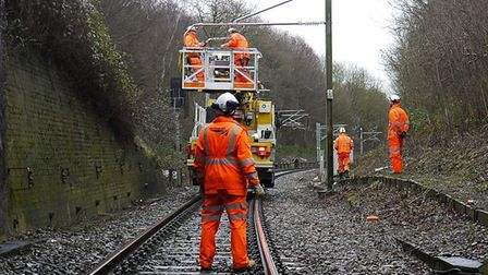 Network Rail has �10m to spend on improving track in East Anglia. Picture: NETWORK RAIL