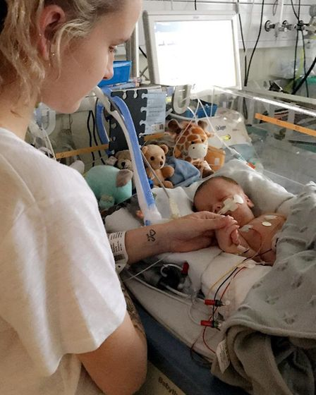 Mother Sophie Payne with son Henry Payne-Smith, who died in May 2018 as a result of brain injuries s