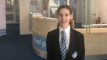 Emily Eaton, 14, who organised a number of events to fund a trip with the Guides Picture: CASTLE MAN