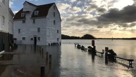 Woodbridge has a flood warning in place for March 23, with water expected to hit the marina Picture: