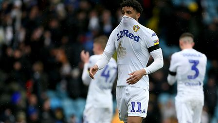 Leeds United's Tyler Roberts reacts after the recent 1-0 home defeat to Sheffield United. Photo: PA