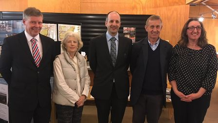 Left to right: David Kemp, coastal manager for the Environment Agency; Prof Jane Maxim, Trustee and