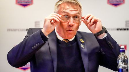 Hull City manager Nigel Adkins pictured during his post match press conference following his side's