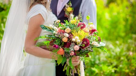 Freeform bouquets of wild flowers will be a trend for the 2018/2019 wedding season.