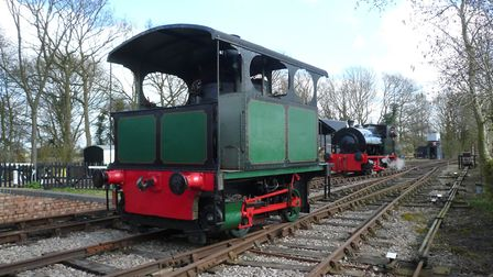 The Mid Suffolk Light Railway's 100-year-old vertical boilered Belgian tram locomotive. Picture: JOH