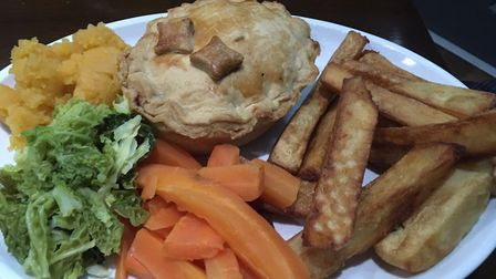 This minced beef and onion pie was very very tasty Picture: Archant