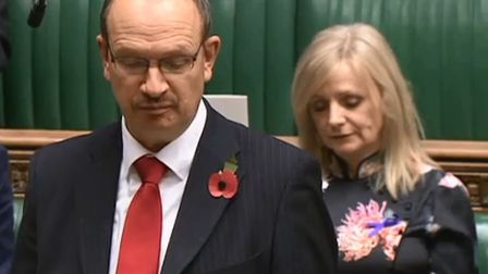 Sandy Martin speaking in the House of Commons Picture: HOUSE OF COMMONS/Parliamentary TV