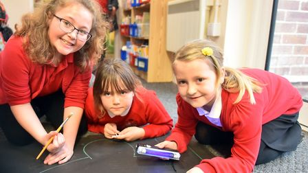 Pupils take part in the CSI task at Snape Primary PICTURE: Jamie Honeywood