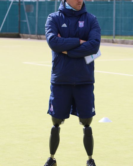Shaun Whiter lost both legs in a hit-and-run accident. Picture: SUFFOLK FA