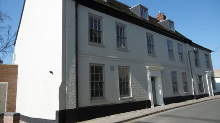 This Georgian terrace of houses in Lower Brook Street, Ipswich have been returned to homes by Stone