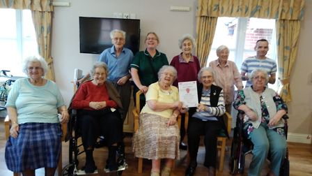 Steeple View residents celebrate their award. Picture: STEEPLE VIEW
