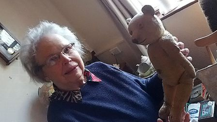 Patricia with a teddy bear dating back to the early 1900s, which is still yet to be recovered Pictur