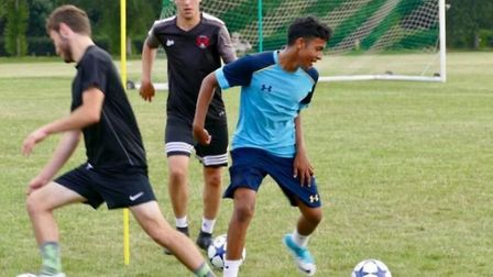 Ipswich Town youngster Nyam Mesuria has featured for Tottenham, West Ham and Chelsea in the past. Ph