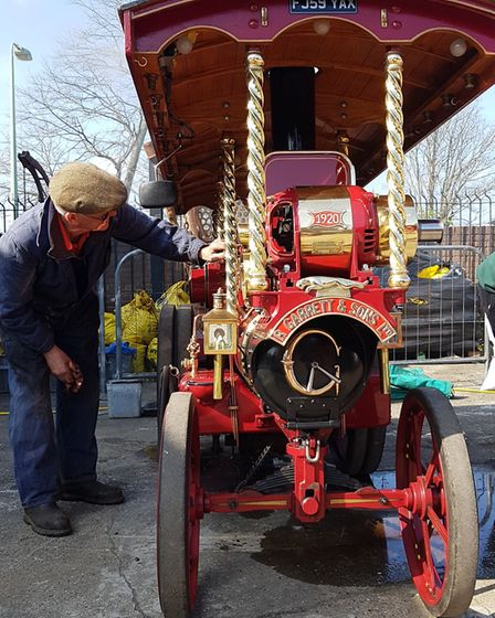 Steam engines parade through town at Leiston Long Shop Steam Up day. Picture: RACHEL EDGE