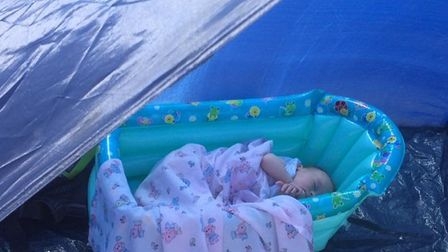 Travelling by car means there is plenty of room for baby essentials including a beach shelter, infla