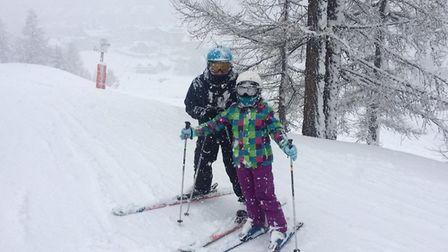 Saving money on a summer holiday means there is plenty in the kitty for our annual ski trips Picture