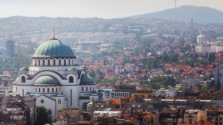 The Church of Saint Sava and an aerial view of old Belgrade PICTURE: Getty Images/iStockphoto