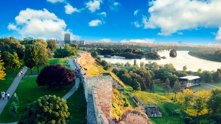 The view of New Belgrade from Kalemegdan Park PICTURE: Getty Images/iStockphoto