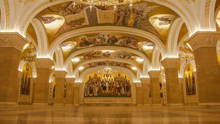 Inside the Serbian Orthodox Christian Church of Saint Sava PICTURE: Getty Images/iStockphoto