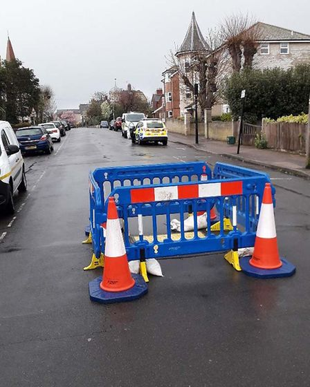 Highways will be on the scene of the hole today Picture: ESSEX HIGHWAYS
