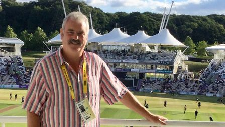 Don Topley at the Ageas Bowl, Southampton, where he was due to be commentating on Hampshire v Essex