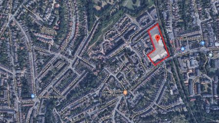 The site off Woodbridge Road where the new special school in Ipswich will be built. Picture: GOOGLE
