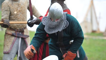 Alder Carr farm hosted trials for the UK squad of combat viking fighting over the weekend Picture: