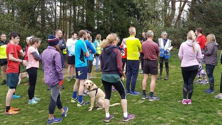 A field of 306, plus a few dogs, took part in Saturday's 295th Bury St Edmunds parkrun. Picture: BUR
