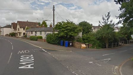 A stretch of Water Lane in Cavendish was blocked by police, according to witnesses Picure: GOOGLEMAP