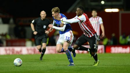 Teddy Bishop runs at the defence at Brentford Picture Pagepix