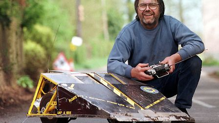 Rex Garrod, star of Robot Wars, with one of his creations in 2002 Picture: ARCHANT ARCHIVE