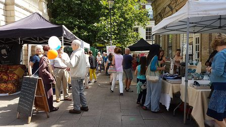 """Bury's cobbled streets and """"period drama"""" look wowed the judges Picture: SUFFOLK MARKET EVENTS"""