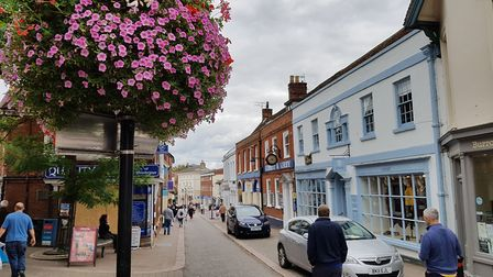 Woodbridge's Thoroughfare was nominated for Britain's best high street in 2018 Picture: RACHEL EDGE