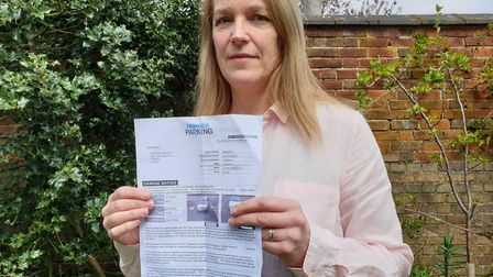 Jennie Cassidy received a £100 parking fine after parking at Costa in Martlesham Pictuer: ADAM HOWLE