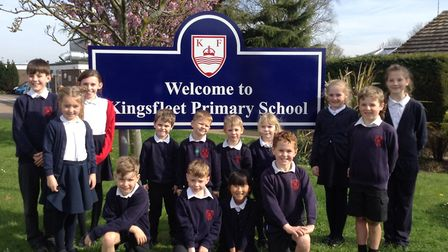 Pupils at Kingsfleet Primary School were delighted with the Ofsted result Picture: REBECCA MCCARTHY