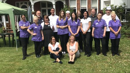 The Healthcare Homes Group is celebrating its recent CQC ratings. Some of the team at Foxgrove care