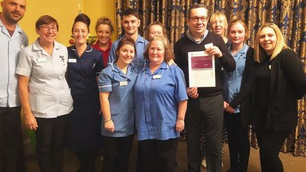 Healthcare Homes Group celebrates CQC ratings. Staff at Fornham House near Bury St Edmunds, which ha