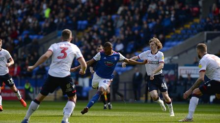 Collin Quaner scores his second goal at Bolton during the first half. Picture Pagepix