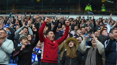 Ipswich react with joy at the final whistle as Ipswich gain a rare away win at Bolton Picture Pagepi