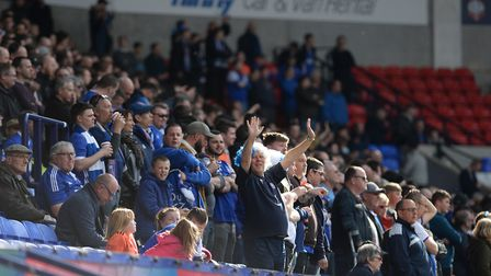 Town fans at Bolton at Bolton Picture Pagepix